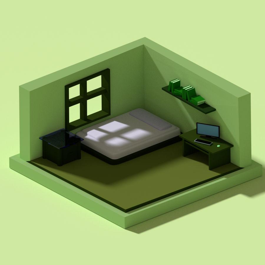 chambre basse polygonale royalty-free 3d model - Preview no. 1