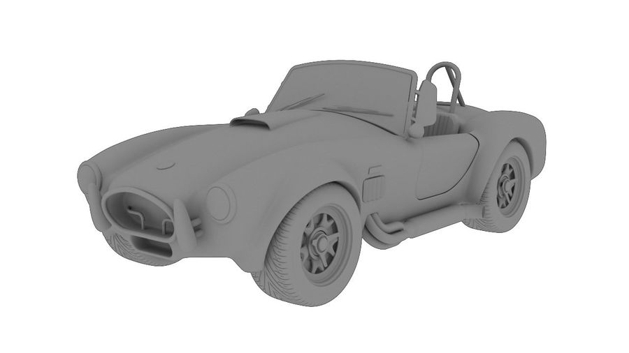 Cobra fordon royalty-free 3d model - Preview no. 6