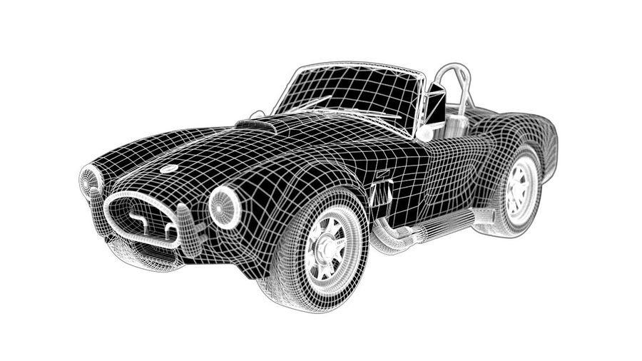 Cobra fordon royalty-free 3d model - Preview no. 2