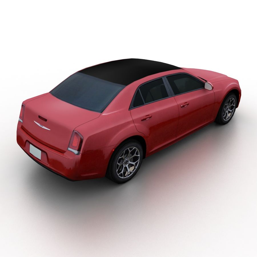 克莱斯勒300 2015 royalty-free 3d model - Preview no. 2