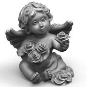Ängel med rosor 3d model