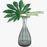Folhas tropicais 004 3d model