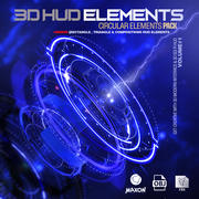 Sci-Fi Hud Elements + Bonus 3d model