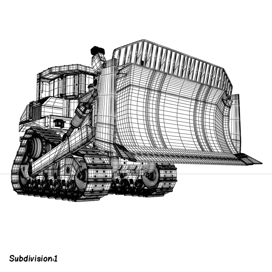 Rigged Bulldozer royalty-free 3d model - Preview no. 13