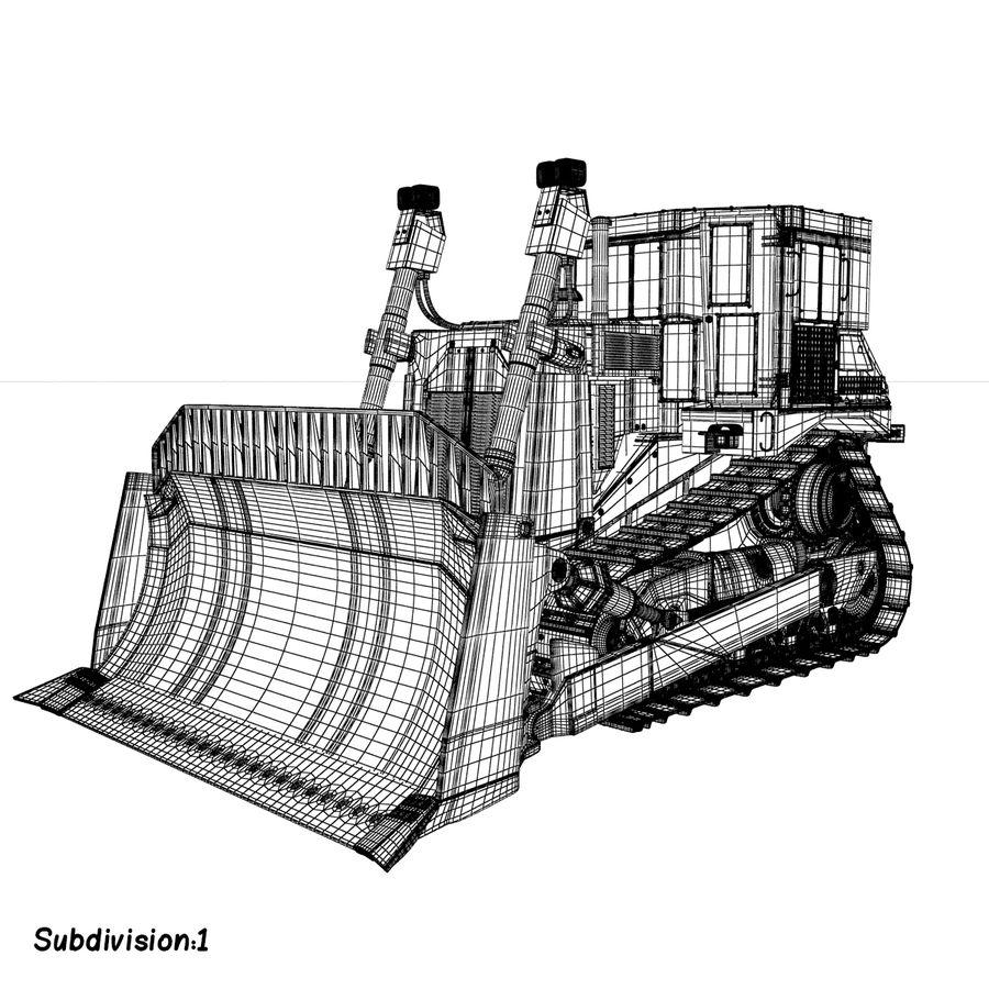 Rigged Bulldozer royalty-free 3d model - Preview no. 11