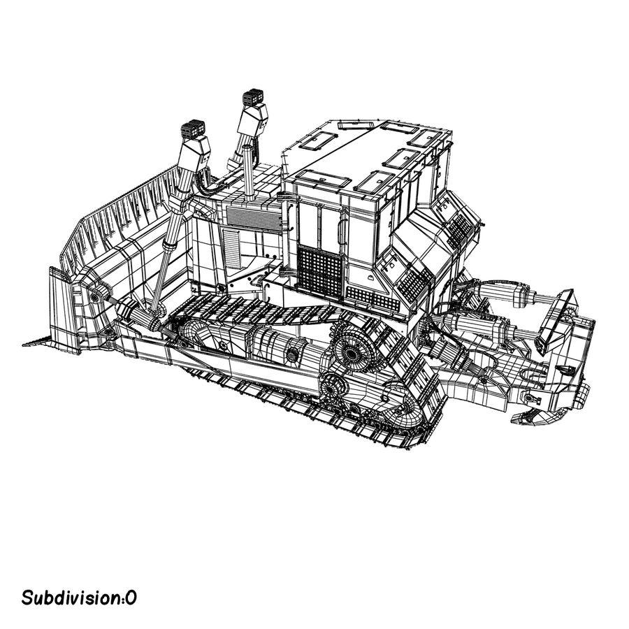 Rigged Bulldozer royalty-free 3d model - Preview no. 17