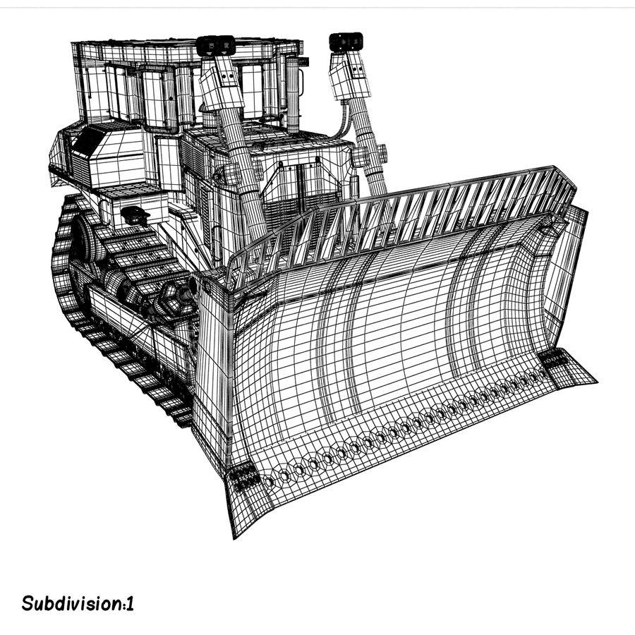 Rigged Bulldozer royalty-free 3d model - Preview no. 15