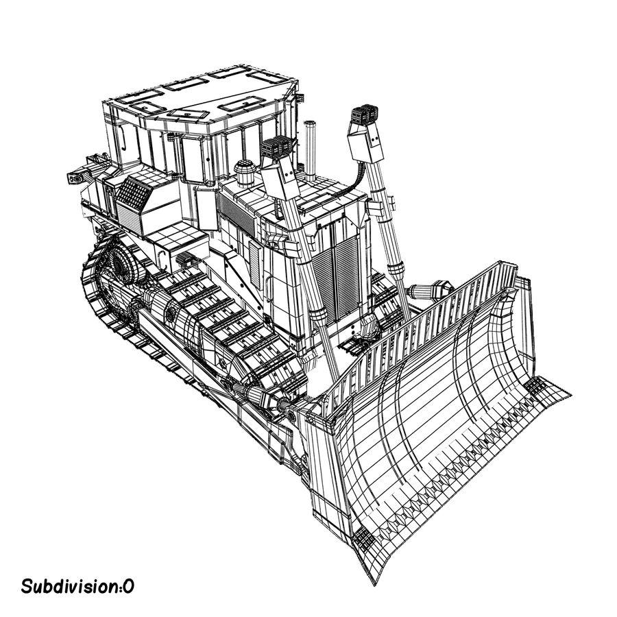 Rigged Bulldozer royalty-free 3d model - Preview no. 16