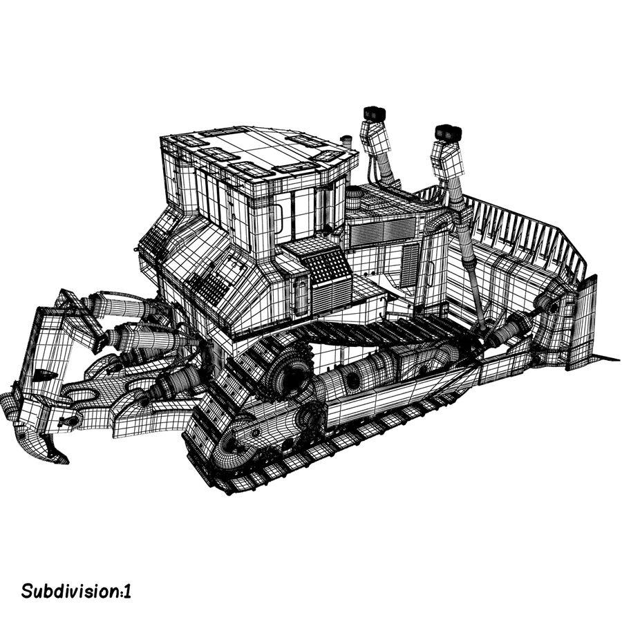 Rigged Bulldozer royalty-free 3d model - Preview no. 12