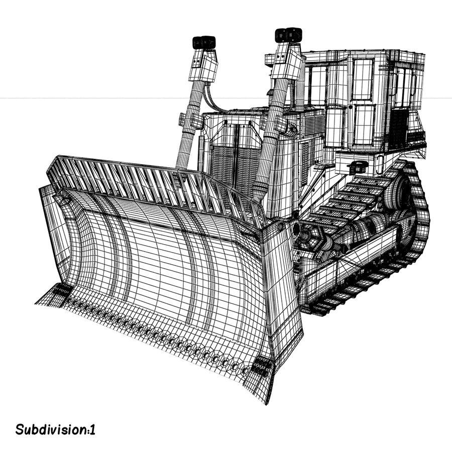 Rigged Bulldozer royalty-free 3d model - Preview no. 14