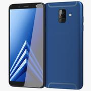 Samsung Galaxy A6 2018 Blue 3d model