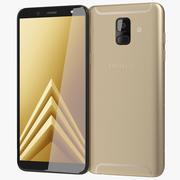 Samsung Galaxy A6 2018 Gold 3d model