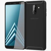 Samsung Galaxy A6 Plus 2018 Schwarz 3d model