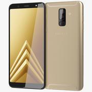 Samsung Galaxy A6 Plus 2018 guld 3d model