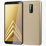 Samsung Galaxy A6 Plus 2018 Gold 3d model