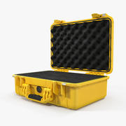 Estuche Pelican Amarillo con Espuma modelo 3d