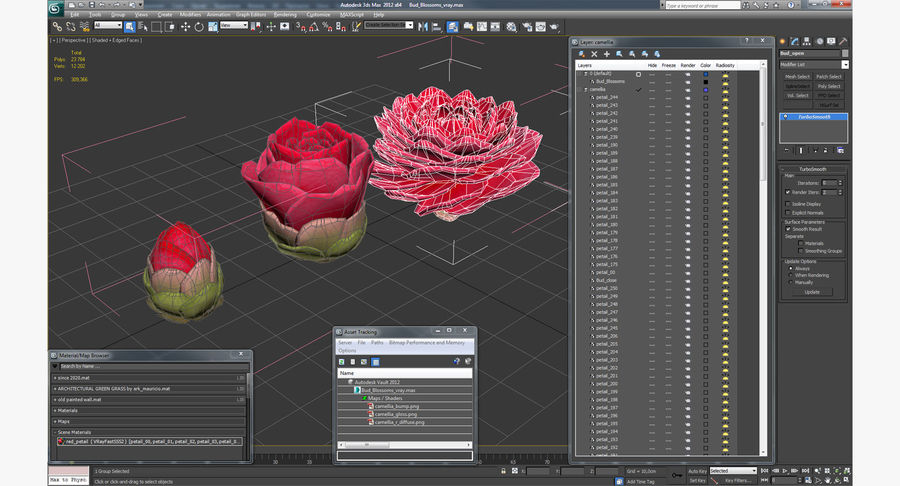 Evolução da flor do botão royalty-free 3d model - Preview no. 13