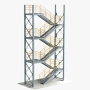Industrietreppe 4 Stapelbar 3d model