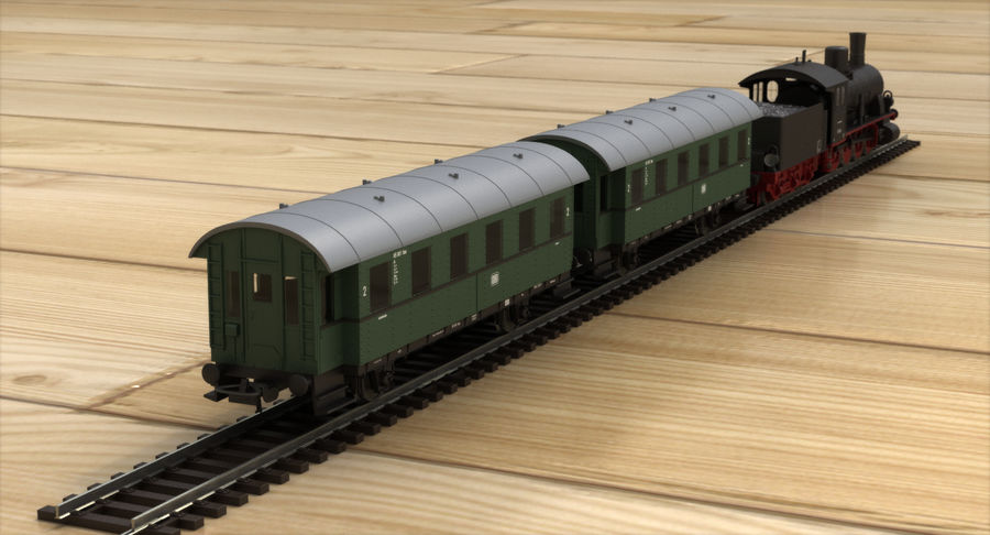 Игрушечный поезд royalty-free 3d model - Preview no. 6