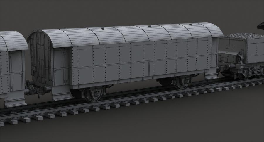 Игрушечный поезд royalty-free 3d model - Preview no. 11