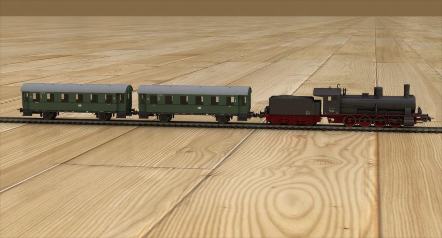 玩具火车 royalty-free 3d model - Preview no. 4