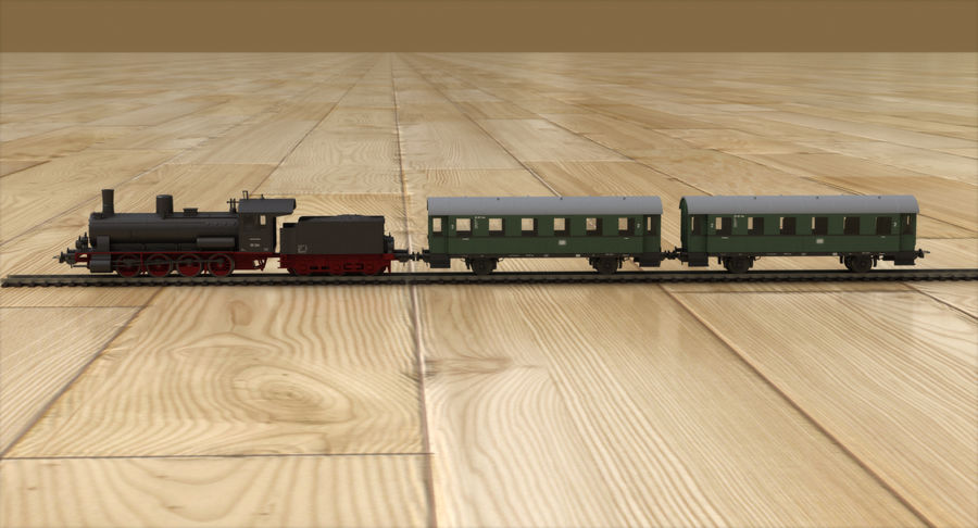 玩具火车 royalty-free 3d model - Preview no. 3