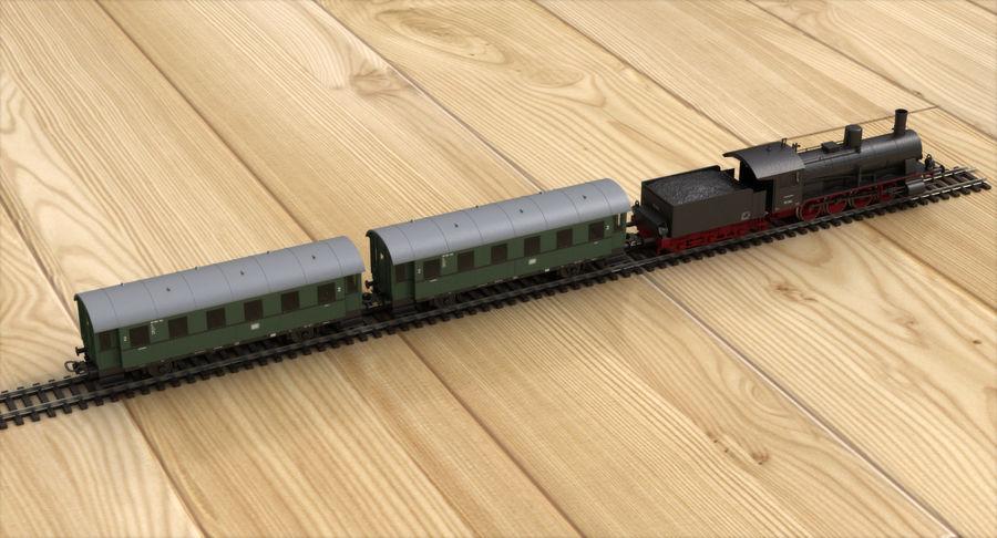玩具火车 royalty-free 3d model - Preview no. 5