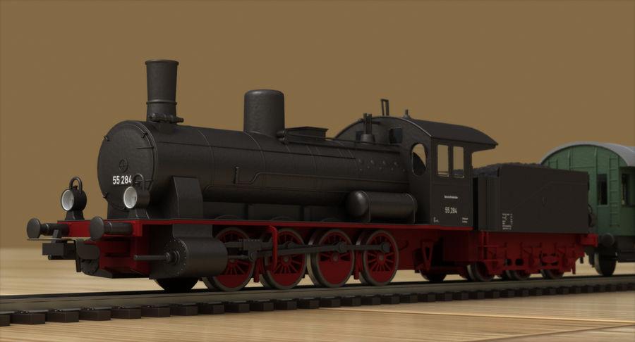 玩具火车 royalty-free 3d model - Preview no. 8