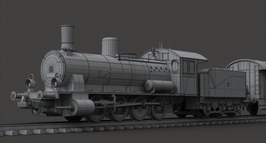 玩具火车 royalty-free 3d model - Preview no. 9
