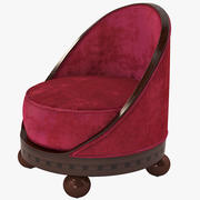 Krzesło Boudoir Lounge w stylu francuskim w stylu art deco 3d model
