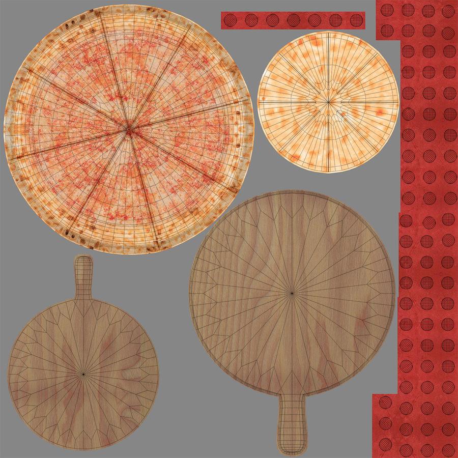 Pizza 3D Model royalty-free 3d model - Preview no. 13