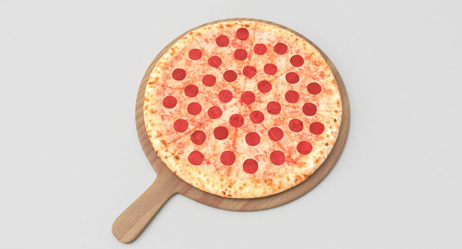 Pizza 3D Model royalty-free 3d model - Preview no. 2
