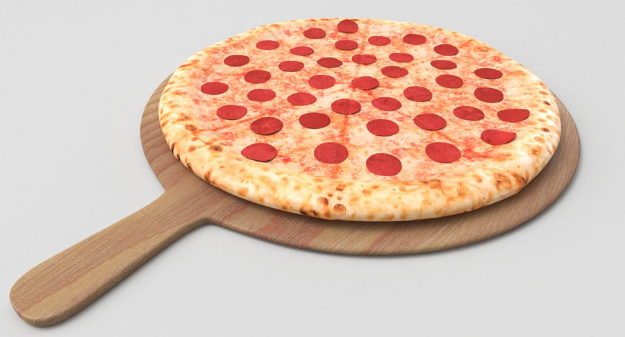 Pizza 3D Model royalty-free 3d model - Preview no. 5