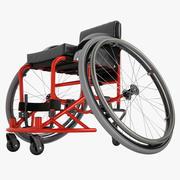 Fauteuil roulant de sport 01 3d model