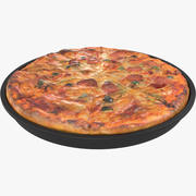 Pizza au pepperoni 3d model