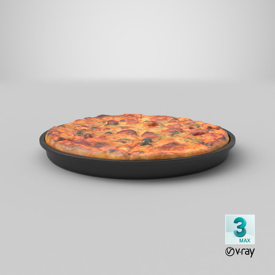 Pepperoni Pizza royalty-free 3d model - Preview no. 20