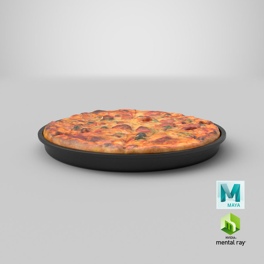 Pepperoni Pizza royalty-free 3d model - Preview no. 19
