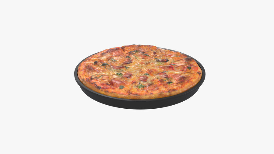 Pepperoni Pizza royalty-free 3d model - Preview no. 9
