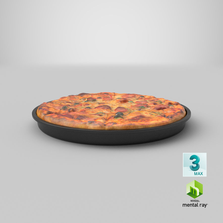 Pepperoni Pizza royalty-free 3d model - Preview no. 21