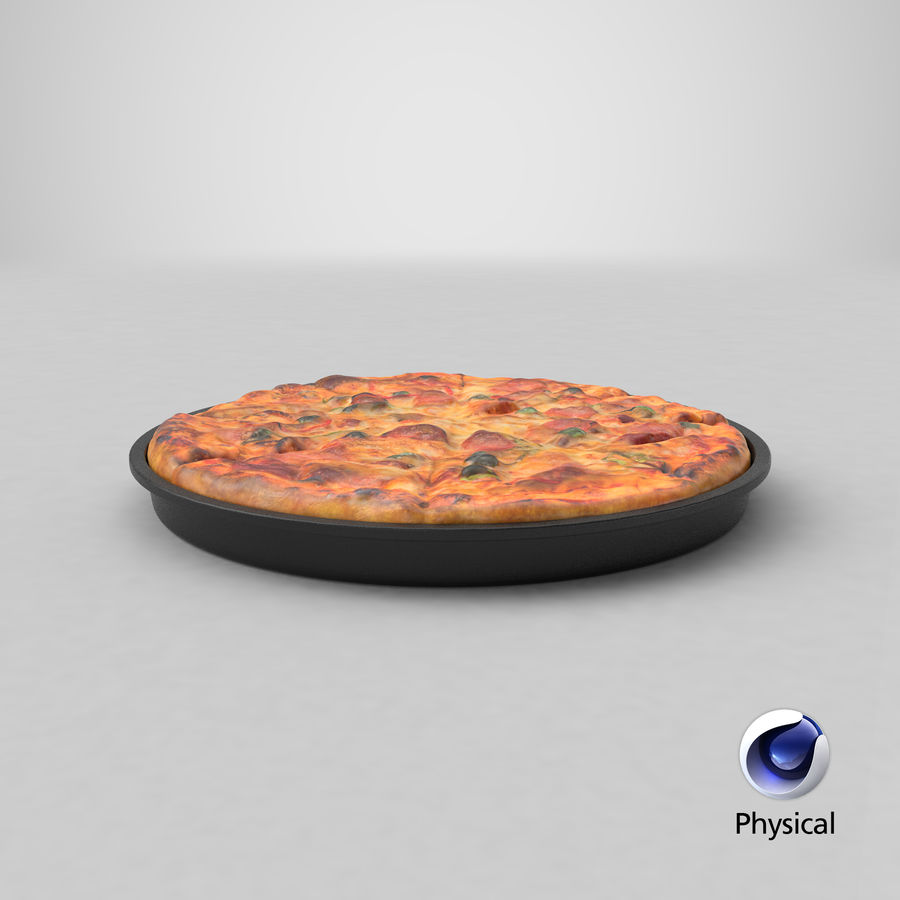 Pepperoni Pizza royalty-free 3d model - Preview no. 22