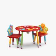 子供用テーブルと椅子(1) 3d model