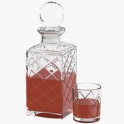 Botella con vidrio modelo 3d