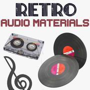 Retro Audio Materials 3D Models Collection 3d model