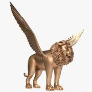 Gevleugelde leeuw 3d model