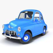 卡通复古车 3d model