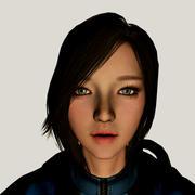 Guerrière 3D Barbara Girl 3d model