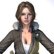 3D Warrior Scarlet v2 Girl (truqué) 3d model