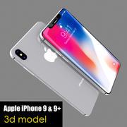 Apple iPhone 9 & 9+ 3d model