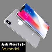 Apple iPhone 9 y 9+ modelo 3d