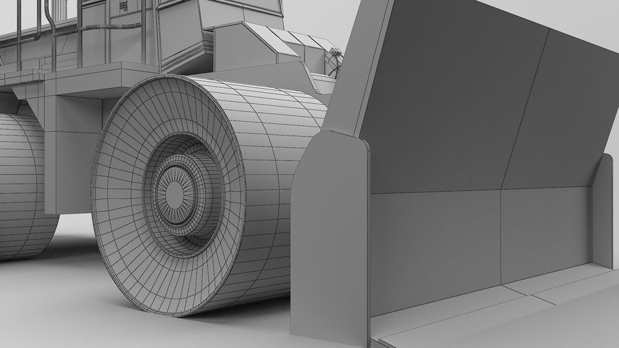 Construction Truck royalty-free 3d model - Preview no. 15